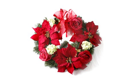 John Lewis Poinsettia Wreath