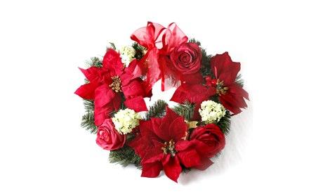 John Lewis Poinsettia Wreath