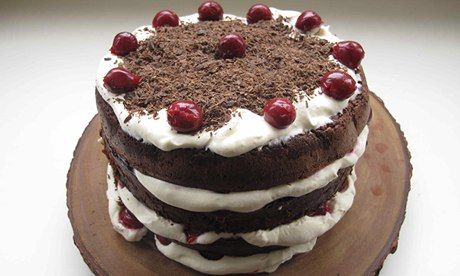 easy black forest cake black forest yule stump cake black forest ...