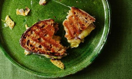 Three-cheese toastie