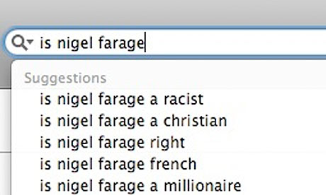 Google search: Is Nigel Farage …