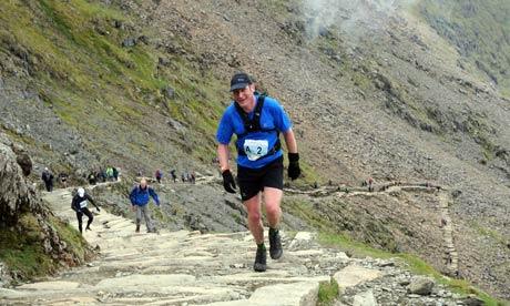 Nick near the summit of Mount Snowdon