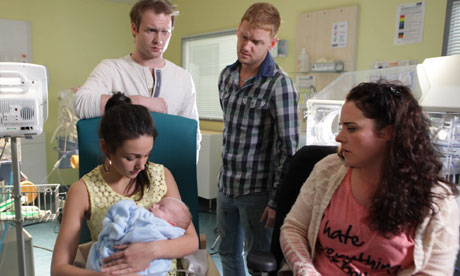 Tina, Tommy, Gary and Izzy in Coronation Street
