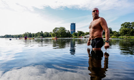 Open-water swimmer Colin Hill at the Serpentine in London