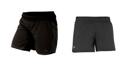 Summer running gear: shorts from Pearl Izumi and Salomon