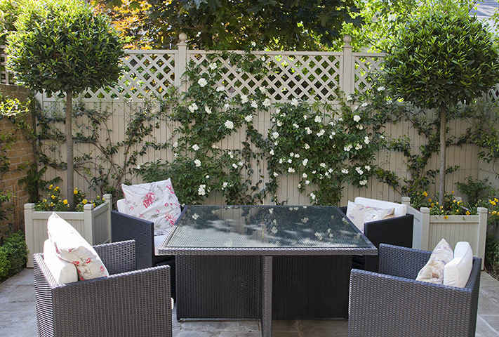 Tiny courtyard garden in chiswick in pictures life and for Courtyard garden ideas photos