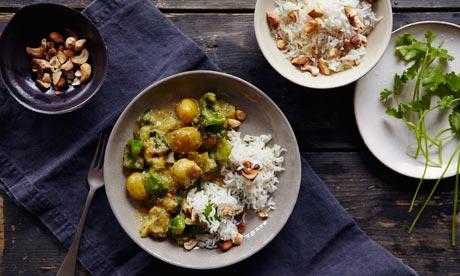 Ten best banana 2: Banana curry and cashew rice