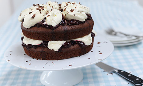 Dan Lepard's Black Forest chocolate and cherry cake