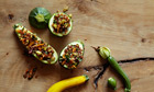 10 best courgette, pic 1: stuffed round courgettes with red rice
