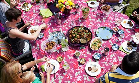 Get-togethers: an afternoon tea in the garden, eastern-style