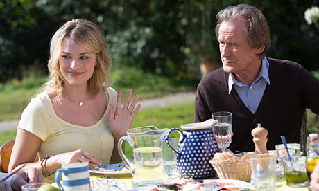 Margot Robbie and Bill Night in About Time