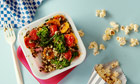 10 best lunchbox fillers: Pearl barley and puy lentil salad with sweet potato, broccoli & tomatoes