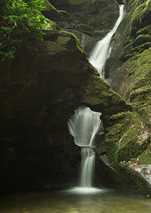 St Nectan's Glen waterfall near Tintagel, Cornwall