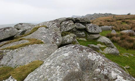 Granite boulders on Bodmin Moor