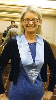 Lynn Marshall in September 2011, after her induction into the International Masters Swimming Hall of