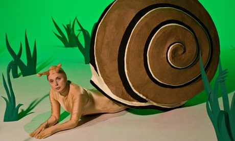 Isabella Rossellini dressed as a snail for her show Green Porno