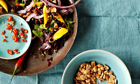 Black Rice Salad With Mango And Peanuts Recipe — Dishmaps