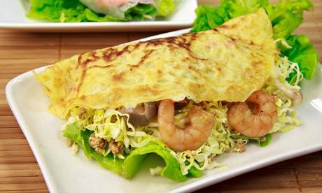 Banh xeo, or Vietnamese pancakes