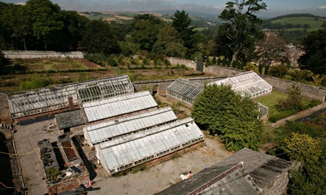 The walled garden at the Flete estate in Devon