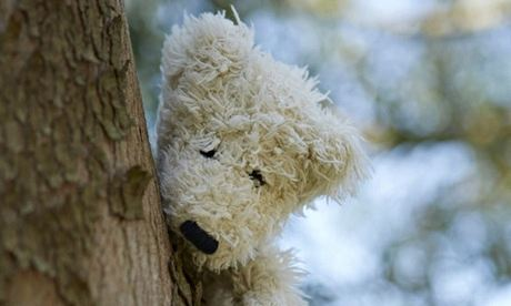 Hide teddy bears around the garden to keep children entertained