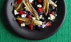 10 best Caramelised chicory, labneh and strawberry salad