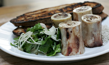 Roast bone marrow and parsley salad at St John