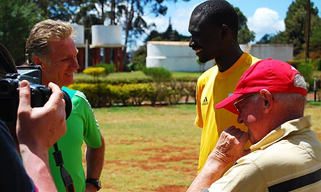 Brother Colm O'Connell and David Rudisha