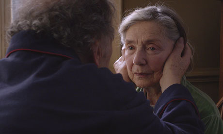 Still of elderly couple in Amour