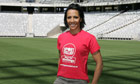 Kelly Holmes in football stadium
