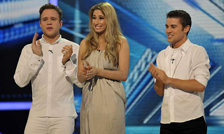 The X Factor 2009 finalists: Olly, Stacey and Joe