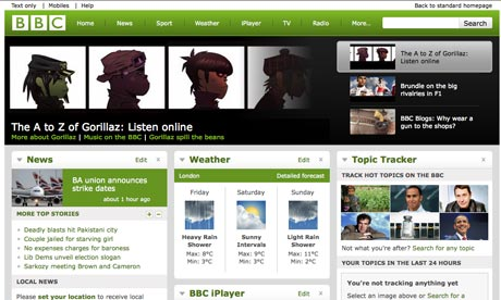 New BBC.co.uk homepage in beta