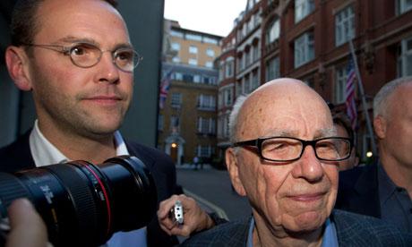 Rupert Murdoch and James Murdoch