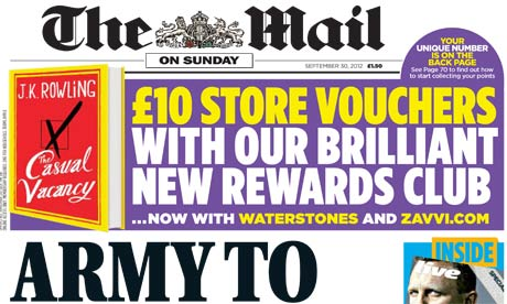 Mail on Sunday Sep 12