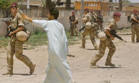 British troops in Majar al-Kabir