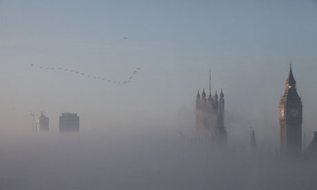 Westminster in mist