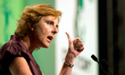 European Union climate commissioner Connie Hedegaard at the Durban conference
