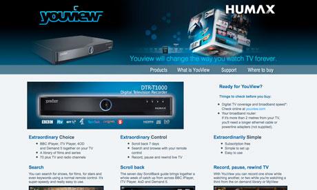 humaxdigital.com screenshot
