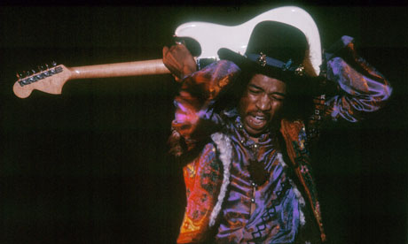 The Jimi Hendrix Experience in concert at Olympia, London, Britain