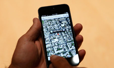 map function Apple's iPhone 5