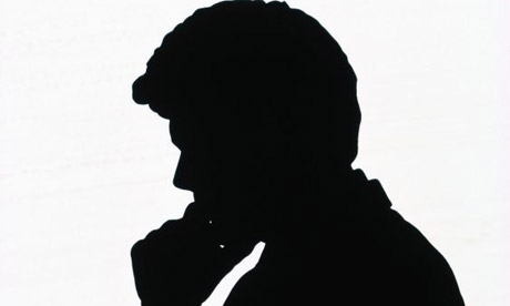 Stock pic - silhouette A man in silhouette. Photograph: Corbis