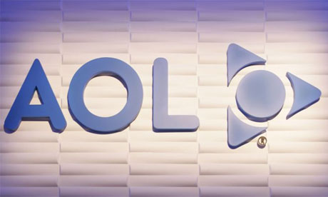 The AOL logo. Photograph: AP/Paul Sakuma