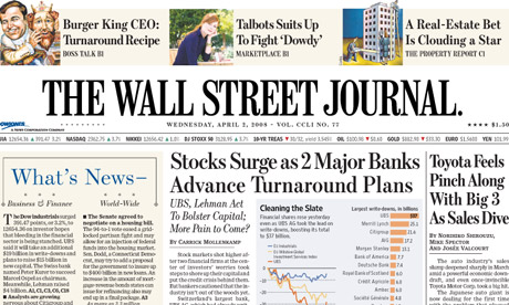 News Corporation to launch US edition of Wall Street ...
