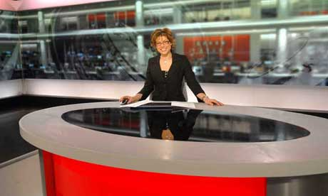 Kate Silverton in the new-look BBC News studio