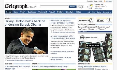 Telegraph เว็บไซต์สัญชาติอังกฤษ