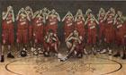 Spanish basketball team pose for an advertisement