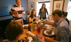 The Hughes family in Channel 4 show The Family