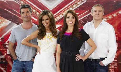 X Factor 2008: judges Simon Cowell, Cheryl Cole, Dannii Minogue and Louis Walsh