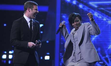 The X Factor 2008: Dermot O'Leary and Rachel Hylton