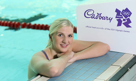 Olympic swimmer Rebecca Adlington at the unveiling of Cadbury's as a 2012 sponsor