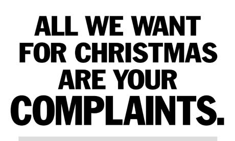 Portman Group poster asking people to complain about irresponsible Christmas advertising